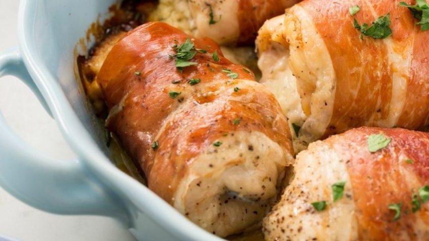Maak je eigen gevulde kip met Boursin en Parmaham