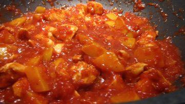 maak je eigen kip pilaf met perziken